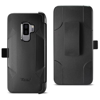 Samsung Galaxy S9 Plus 3-In-1 Hybrid Heavy Duty Holster Combo Case (Black)