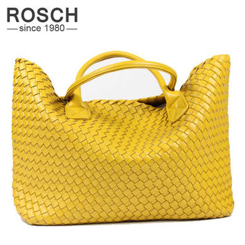 NEW Fashion Famous Brand Cool Design 100%PU Leather Woven Shoulder Bags/Purse For Women