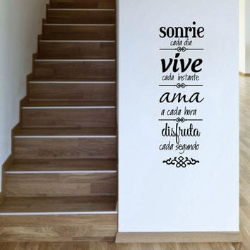 Free shipping Spanish house rules Wall Sticker Home Decoration  , Spanish Version NORMAS DE CASA Vinilos Decorativos