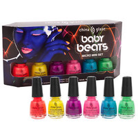 China Glaze Nail Lacquer Baby Beats Mini 6pc Set Electric Nights Collection