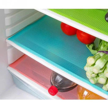 4 pcs set Fashion Refrigerator pad Antibacterial antifouling Mildew Moisture absorption Pad Refrigerator Mats Fridge Magnet