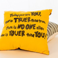 Dr. Seuss tribute quote pillow