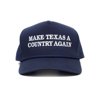 Make Texas A Country Again Classic Rope Hat - Navy Blue