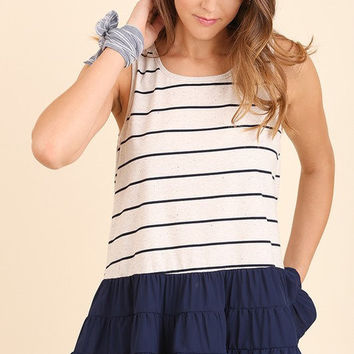 UMGEE-NAUT Your Average Striped Tank (Navy)