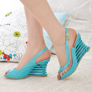 NEW high heel sandals fashion women dress patent
