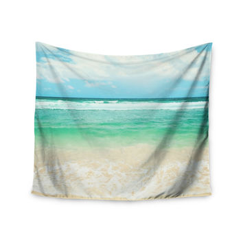 "Sylvia Cook ""Endless Sea"" Coastal Blue Wall Tapestry"