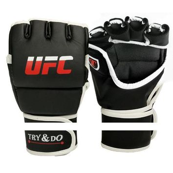 Men Boxing Gloves Karate Muay Thai Sandan Mitts Punch