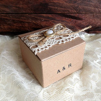 rustic kraft favor box personalized, wedding, bridal shower, baby shower, anniversary, party gift box, candy box