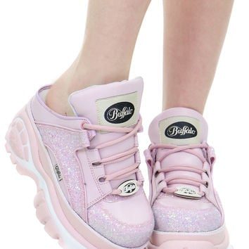 PINK GLITTER BACKLESS CYBER SNEAKER