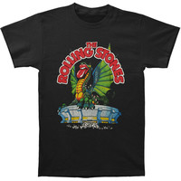 Rolling Stones Men's  Dragon Tongue T-shirt Black Rockabilia