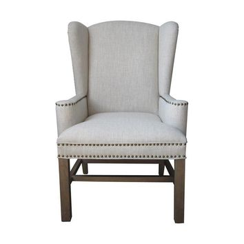 Allcott Wing Back Chair Natural