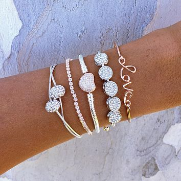 Disco Ball Love Bracelet Set