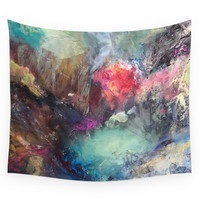 Society6 Strength And Happiness Wall Tapestry