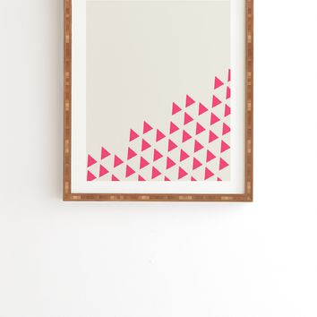 Allyson Johnson Pink Triangles Framed Wall Art