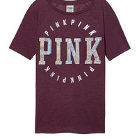 Bling Perfect Raglan Crew Tee - PINK - Victoria's Secret
