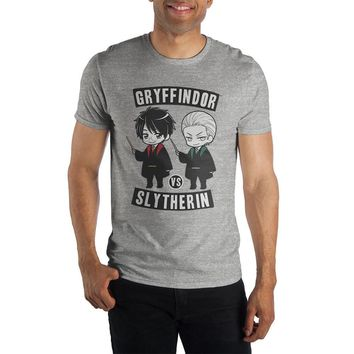 Harry Potter Gryffindor Versus Slytherin Captains Men's Gray T-Shirt