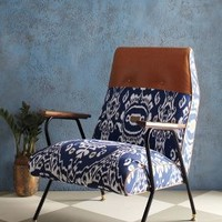 Quentin Chair, Midnight Ikat by Anthropologie Blue Motif One Size Furniture
