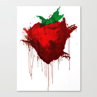 Across The Universe Strawberry Stretched Canvas by julia