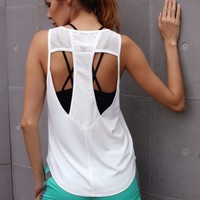 Solid Fitness Tank Tops Women Sleeveless Shirt Sporting Breathable Loose Vest Hollow Out Quick Dry Tops Female Workout Tank Top