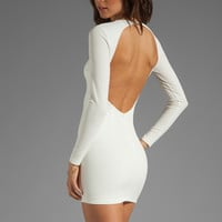 BEC&BRIDGE Estella Long Sleeve Backless Dress in Ivory