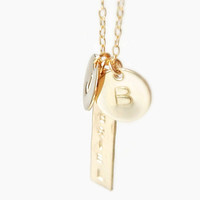 Personalized Initial and Name Pendant Necklace