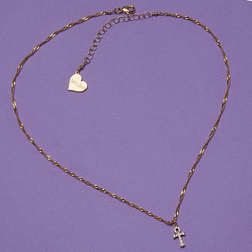Mini Shining Ankh Necklace
