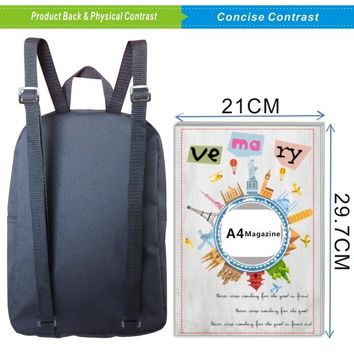 2017 Fashion Oxford 12 Inches Printing Animal Gray Wolf Children School Bags for Baby Boys Small Backpacks for Kids Schoolbag