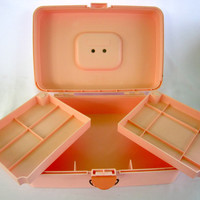 Make Up Caboodles Case Arts and Crafts Box Toiletry Carry All Travel