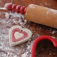 HEART Handcrafted Cookie Salt Dough Ornament