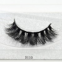 3D Mink Lashes Eyelash Extension 100% Handmade Thick Volume Long False Lash Makeup Giltter Packing 1 Pair D110
