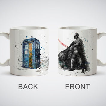 Tardis Darth Vader Star Wars mugs Kitchen Decor ceramic art home decal owl cups beer milk tea porcelain coffee mug cups