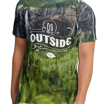 Beautiful Cliffs - Go Outside AOP Men's Sub Tee Dual Sided All Over Print by