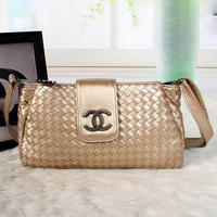 CHANEL Women Shopping Leather Crossbody Shoulder Bag