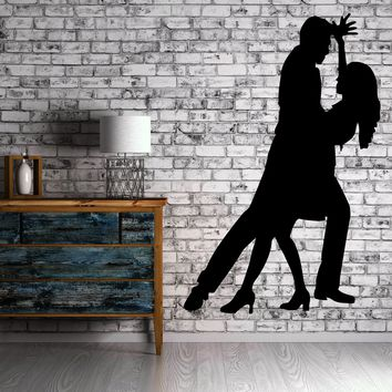 Ballroom Dancing Romance Passion Decor Wall Mural Vinyl Art Decal Sticker Unique Gift (m478)