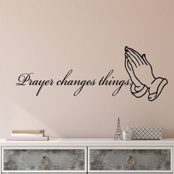 Vinyl Wall Decal Stickers Religious Quote Words Prayer Changes Things Inspiring Letters 2353ig (22.5 in x 8 in)