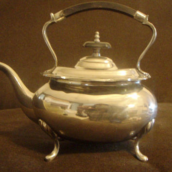 Silver Vintage Teapot/ Coffeepot Sheraton Style Footed by Purana
