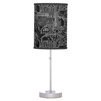Computer Circuit Board Table Lamps