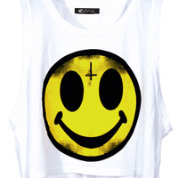 Evil Happy Face Top - LAST ONE