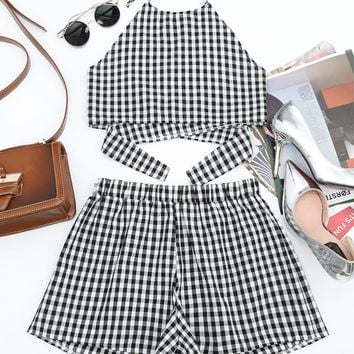 Verona Gingham Two Piece