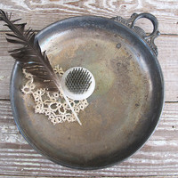 vintage silver plate dish by KatyBitsandPieces on Etsy
