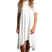 Off White Piko High Low Dress