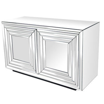 Crestview Millenium 2 Door Mirrored Cabinet CVFZR987 - Sears