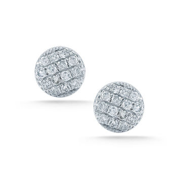 Small White Gold Lauren Joy Studs