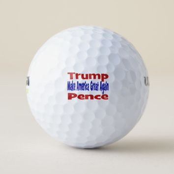 Trump/Pence MAGA Golf Balls, red & blue Golf Balls