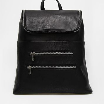 ASOS Chunky Zip Backpack with Zip Pocket