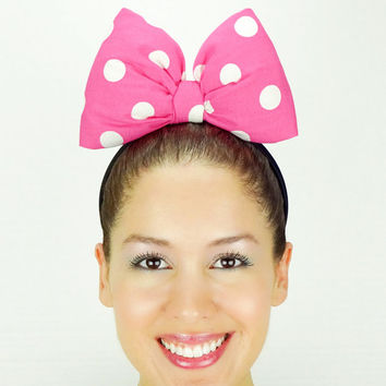 Minnie Mouse Ears Minnie Mouse Bow Minnie Ears Pink Women's Minnie Mouse Halloween Costume Girls Minnie Mouse Costume Baby Toddler Hot Pink