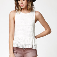 LA Hearts Lace Peplum Tank Top at PacSun.com