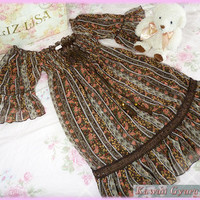 Liz Lisa Floral Short Sleeve Chiffon Dress from Kawaii Gyaru Shop