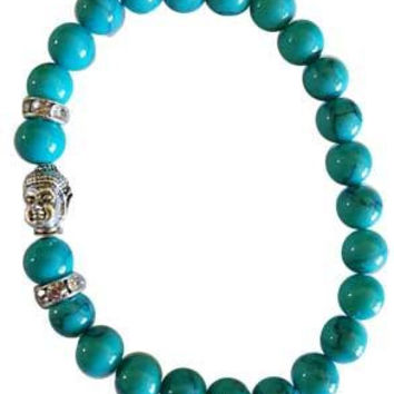 Om Turquoise (synthetic) Bracelet