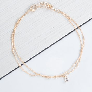 Mini Jeweled Anklet